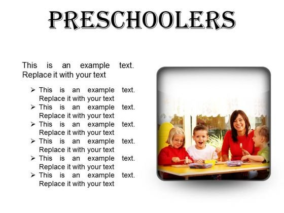 Preschoolers Children PowerPoint Presentation Slides S