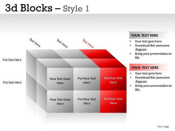 Presentation 3d Blocks 1 PowerPoint Slides And Ppt Diagram Templates
