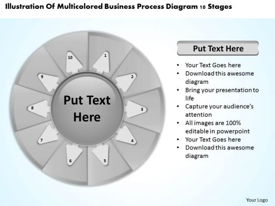 Presentation Process Diagram 10 Stages Ppt How Write Business Plan PowerPoint Templates