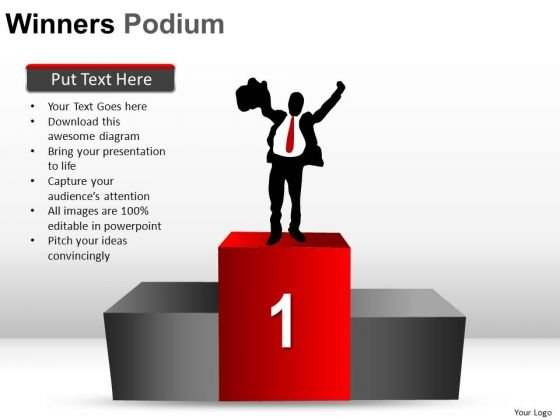 Presentation Winners Podium PowerPoint Slides And Ppt Diagram Templates