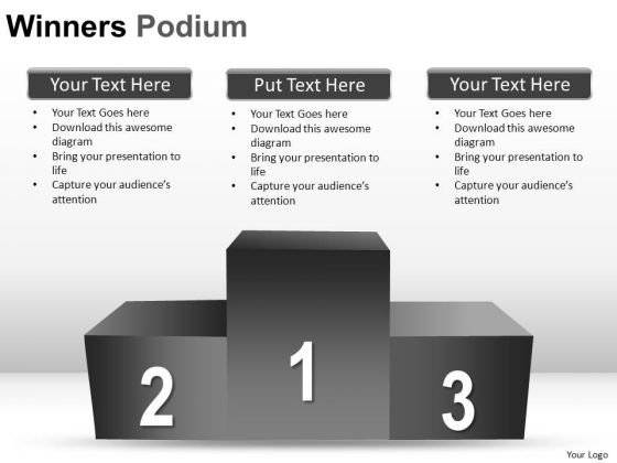 Prizes Winners Podium PowerPoint Slides And Ppt Diagram Templates