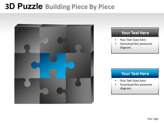 Problem 3d Puzzle Buidling Piece PowerPoint Slides And Ppt Diagram Templates