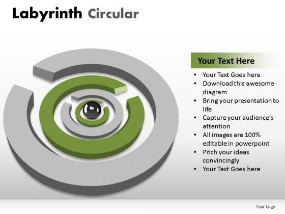Problem Puzzle Labyrinth Circular PowerPoint Slides And Ppt Diagram Templates