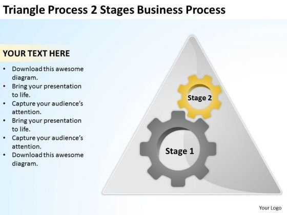 Process 2 Stages Business Ppt Sample Of Plan Outline PowerPoint Templates