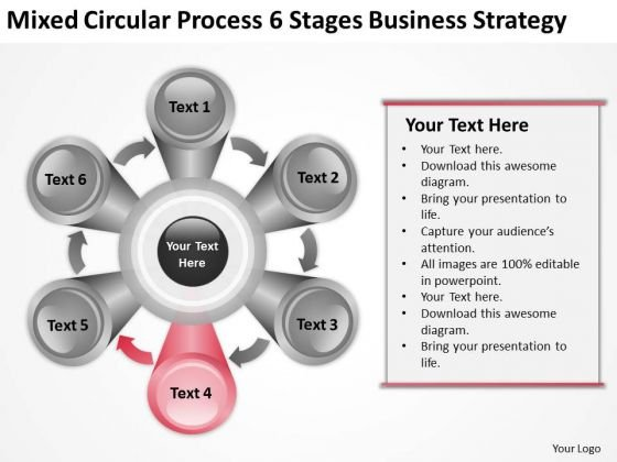 Process 6 Stages Company Business Strategy Ppt Plan PowerPoint Slides
