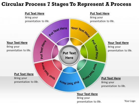 Process 7 Stages To Represent Business Plan Software Download PowerPoint Slides