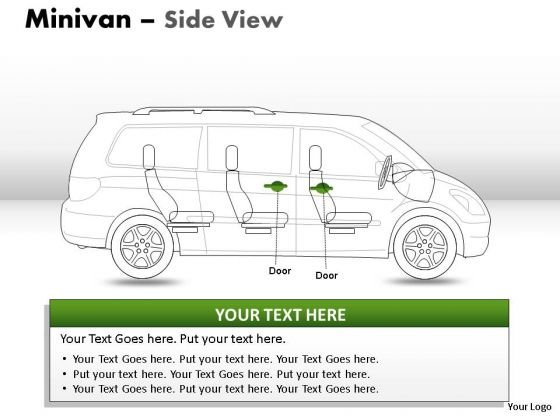 Process And Flows Green Minivan Side View PowerPoint Slides And Ppt Diagram Templates