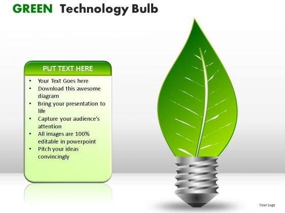 Process And Flows Green Technology Bulb PowerPoint Slides And Ppt Diagram Templates