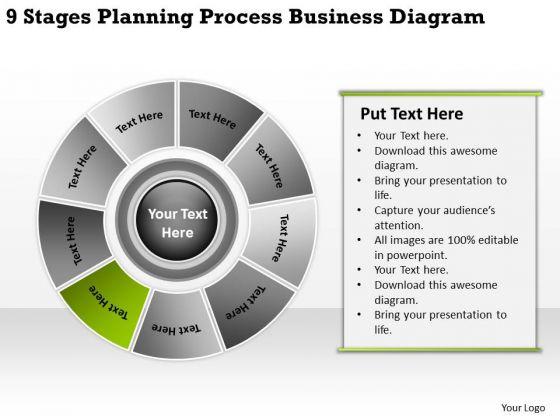 Process Business PowerPoint Theme Diagram Continuity Plans Templates