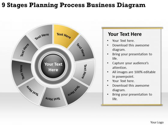 Process Business PowerPoint Theme Diagram Plans Format Templates
