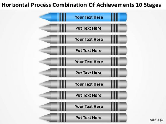 Process Combination Of Acheivements 10 Stages Business Plan PowerPoint Slides