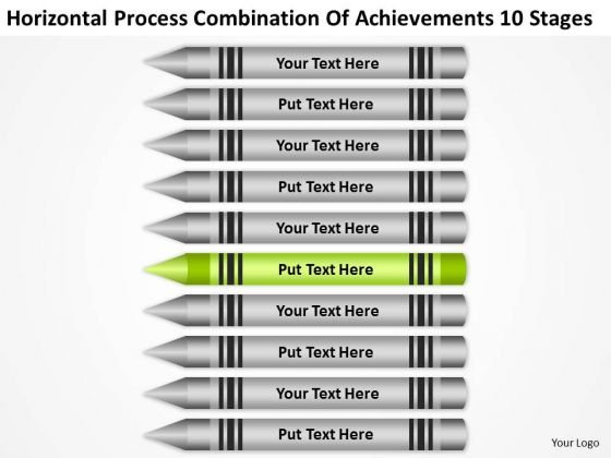 Process Combination Of Acheivements 10 Stages Ppt Business Plan PowerPoint Slides