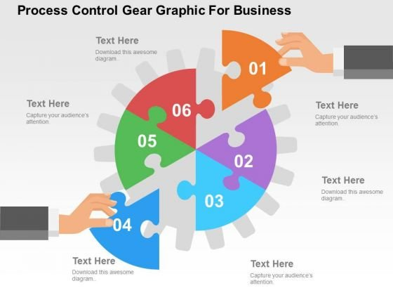 Process Control Gear Graphic For Business PowerPoint Template