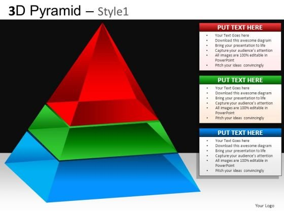 Process Diagram Pyramid Ppt