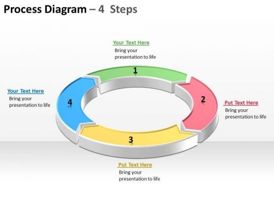 Process Diagram With 4 Stepss Ppt Slides Diagrams Templates