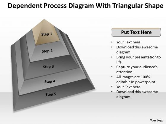 Process Diagram With Triangular Shape Ppt Business Plan Download PowerPoint Templates