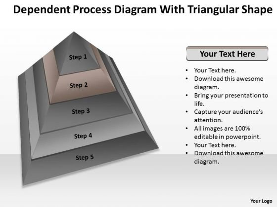 Process Diagram With Triangular Shape Ppt Outline For Business Plan PowerPoint Slides