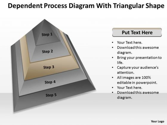 Process Diagram With Triangular Shape Ppt Sales Business Plan Outline PowerPoint Templates