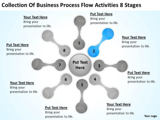Process Flow Activities 8 Stages Business Plan For Sample PowerPoint Slides
