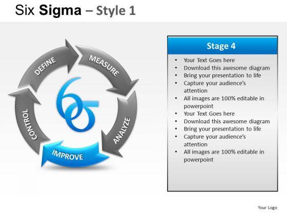 Process Flow Diagram On Six Sigma Ppt Slides