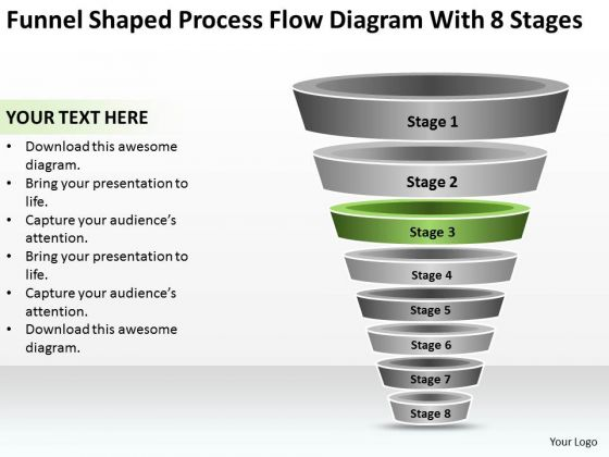 Process Flow Diagram With 8 Stages Ppt Business Continuity Plan Software PowerPoint Templates