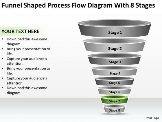 Process Flow Diagram With 8 Stages Ppt Example Of Small Business Plan PowerPoint Templates