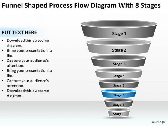 Process Flow Diagram With  Stages Ppt Photography Business Plan
