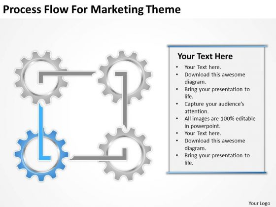 Process Flow For Marketing Theme Ppt Business Plan Format PowerPoint Templates