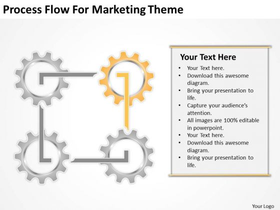 Process Flow For Marketing Theme Ppt Business Plan Outline PowerPoint Slides