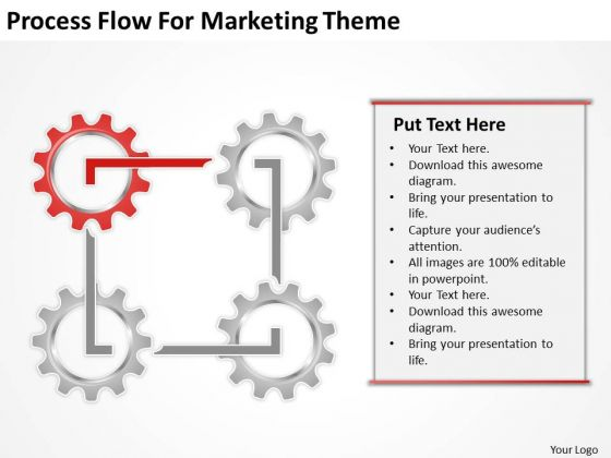 Process Flow For Marketing Theme Ppt Non Profit Business Plan Template Free PowerPoint Templates