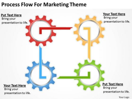 Process Flow For Marketing Theme Ppt Professional Business Plan
