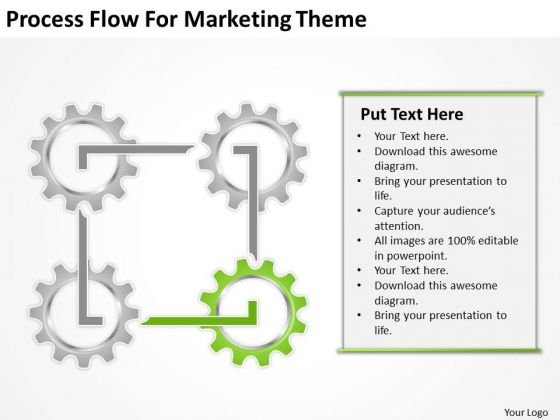 Process Flow For Marketing Theme Ppt Startup Business Plans PowerPoint Slides