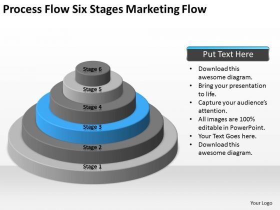 Process Flow Six Stages Marketing Ppt Sample Business Plans Free PowerPoint Slides