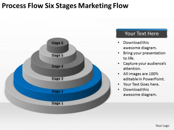 Process Flow Six Stages Marketing Ppt Sample Business Plans PowerPoint Slides