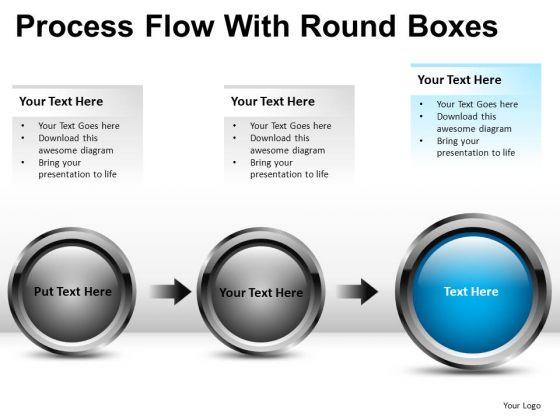 Process Flowchart Diagram For PowerPoint Ppt Slides