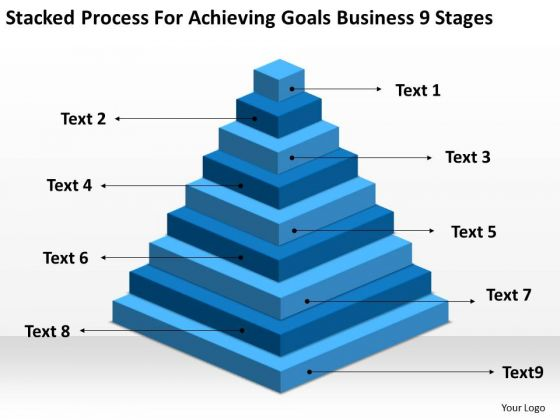Process For Achieving Goals Business 9 Stages Plan Template PowerPoint Slides