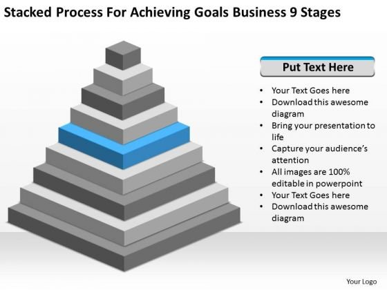 Process For Achieving Goals Business 9 Stages Ppt Plan PowerPoint Slides