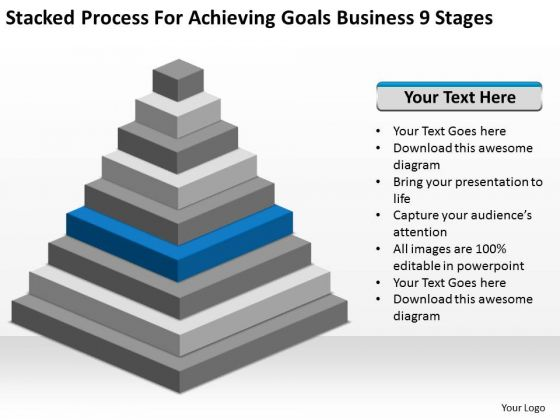 Process For Achieving Goals Business 9 Stages Ppt Plan PowerPoint Templates