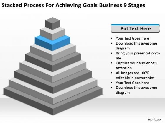 Process For Achieving Goals Business 9 Stages Ppt Sample Sales Plan PowerPoint Slides