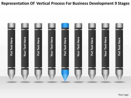 Process For Business Development 9 Stages Ppt Sample Plan Template PowerPoint Templates
