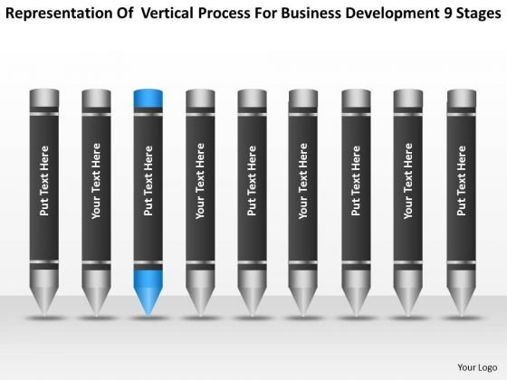 Process For Business Development 9 Stages Ppt Small Planning PowerPoint Templates