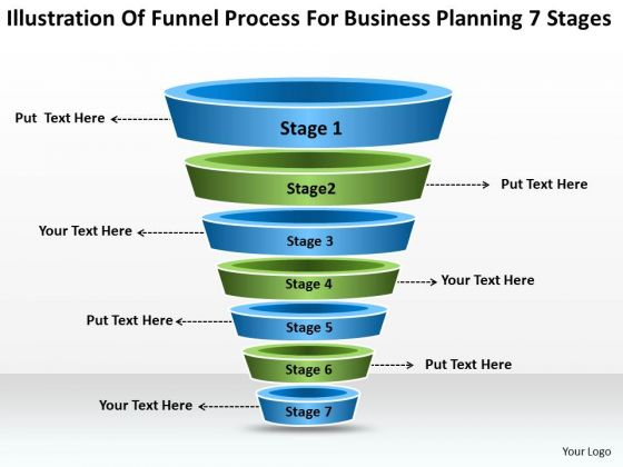 Process For Business Planning 7 Stages Ppt PowerPoint Slides