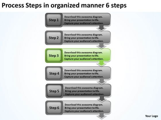 Process Steps In Organized Manner 6 Sample Business Plan Pdf ...