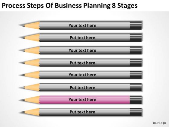 Process Steps Of Business Planning 8 Stages Ppt Example Plans PowerPoint Templates