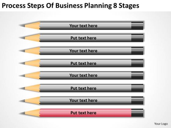 Process Steps Of Business Planning 8 Stages Ppt Outlines PowerPoint Templates