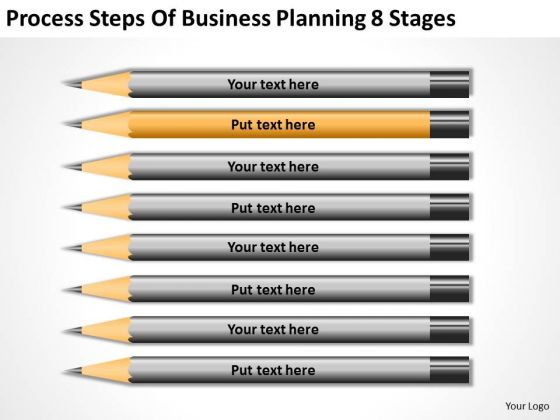 Process Steps Of Business Planning 8 Stages Ppt PowerPoint Slides