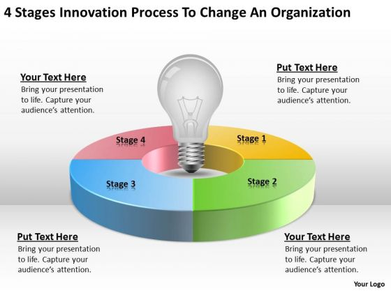 Process To Change Organization Steps Writing Business Plan PowerPoint Slides