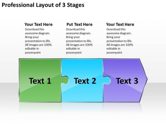 Professional Layout 3 Stages Oil Flow Chart PowerPoint Templates