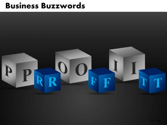 Profits Building Blocks PowerPoint Ppt Templates