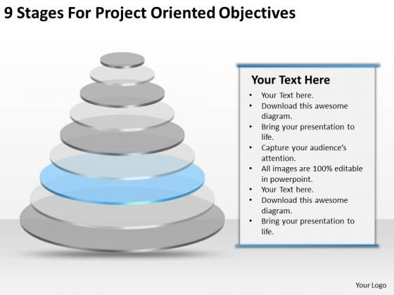 Project Oriented Objectives Ppt Business Plan Template PowerPoint Slides